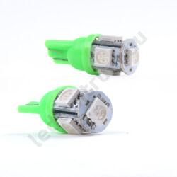 T10 5 smd 5050 - Zöld
