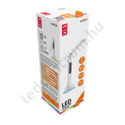 LED asztali lámpa, RGB (színváltós) hangulatvilágítással, LCD kijelzővel, fehér