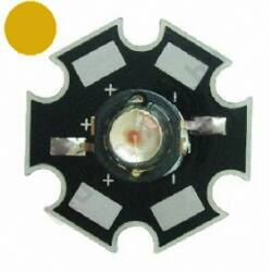 3W Power LED  - Narancs