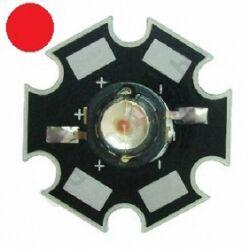 3W Power LED  - Piros