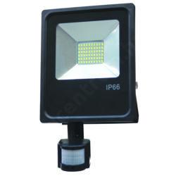 LED reflektor 30W, kültéri, szenzorral, hideg fehér