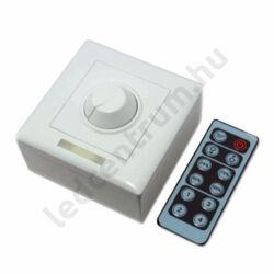 LED fali dimmer, fényerőszabályzó, potméter+távirányító max. 96W