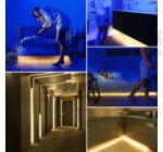 LED ágy alatti világítás 2 db mozgásérzékelővel