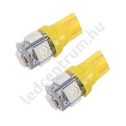 T10 5 smd 5050 - Sárga