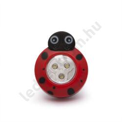 Nyomógombos LED lámpa - Katica