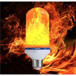 LED égő. láng hatással, E27, 6W