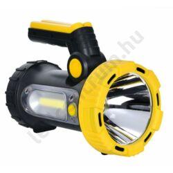 LED tölthető lámpa, powerbank, fekete-sárga