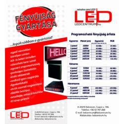 LED fényújság egyedi méretekben