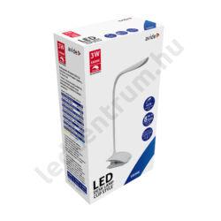 Érintős, csíptethető, fényerőszabályozható LED lámpa, fehér