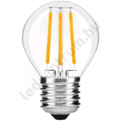 LED égő E27, 7W, Filament Mini Globe, High Lumen, 800lm, meleg fehér, 3 év garancia