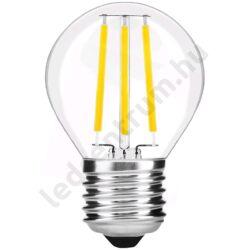 LED égő E27, 7W, Filament Mini Globe, High Lumen, 810lm, természetes fehér, 3 év garancia