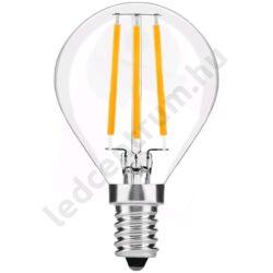 LED égő, Filament Mini Globe, High Lumen, E14, 7W, 800lm, meleg fehér, 3 év garancia