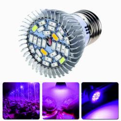 LED növénynevelő lámpa E27 28W, Full Spektrum