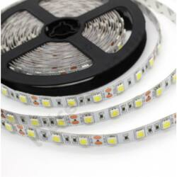 LED szalag, 5050, 60 SMD/m, hideg fehér, beltéri