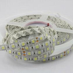 LED szalag, 5050, 60 SMD/m, hideg fehér, vízálló
