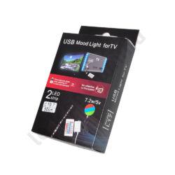 LED TV világítás 2 x 50cm RGB, színváltós távirányítóval