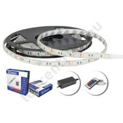 LED szalag szett, 5050-60 RGB, 5m, kültéri, vezérlővel