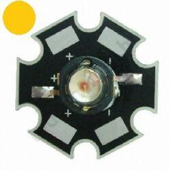 3W Power LED  - Citromsárga