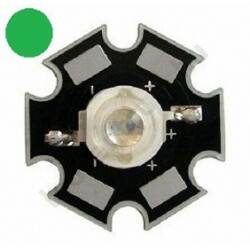 3W Power LED  - Zöld