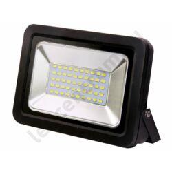 LED reflektor SMD 50W, kültéri, fekete ház, természetes fehér