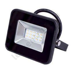 LED reflektor SMD 10W,kültéri, fekete ház, hideg fehér