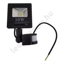 LED reflektor 10W, kültéri, szenzorral, hideg fehér