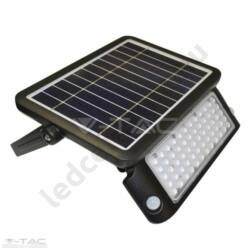 LED szolár reflektor mozgás és fényérzékelővel, 10W, fekete