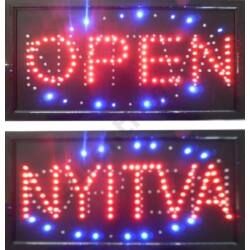 LED tábla: OPEN / NYITVA