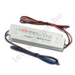 Mean Well LED tápegység, 3A, 35W, DC 12V