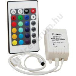 RGB vezérlő, infrás, 24 gombos, max.72W
