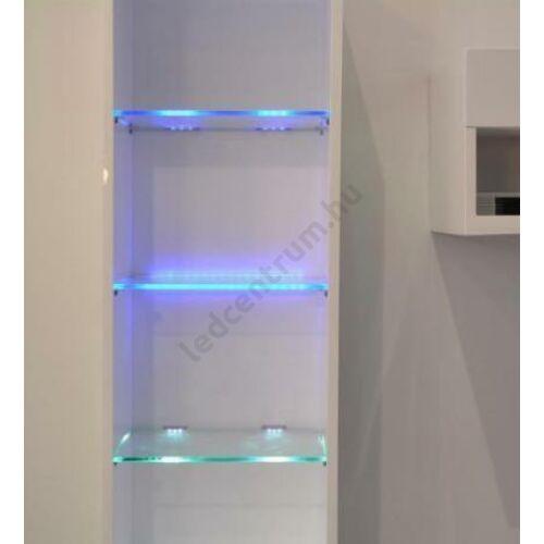 LED üvegpolc élvilágító egyedi méretben és választható színben