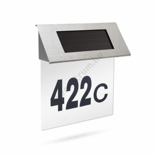 LED szolár házszámfény rozsdamentes acélból