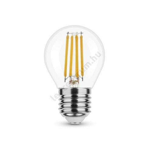 LED égő, Filament G. Mini G45, 360°, E27, 4W, 430lm, természetes fehér, 3 év garancia