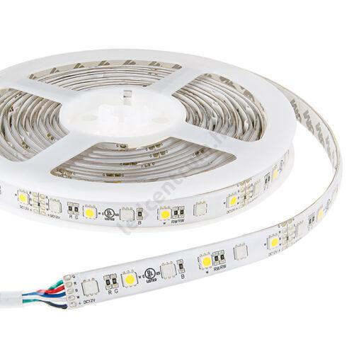 LED szalag, 5050, 60 SMD/m, RGB+W, vízálló