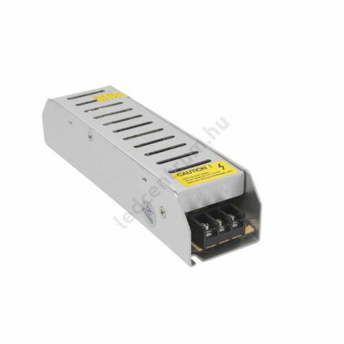 LED tápegység, 8,5A, 100W, DC 12V, fém házas, keskeny