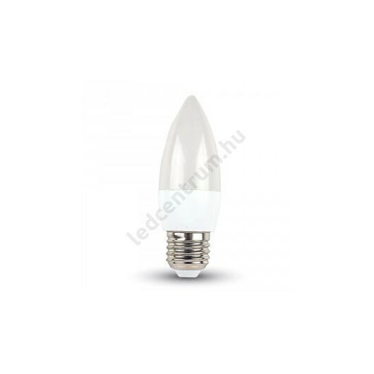 LED gyertya E27 , 6W, 470lm meleg fehér, 2 év garancia