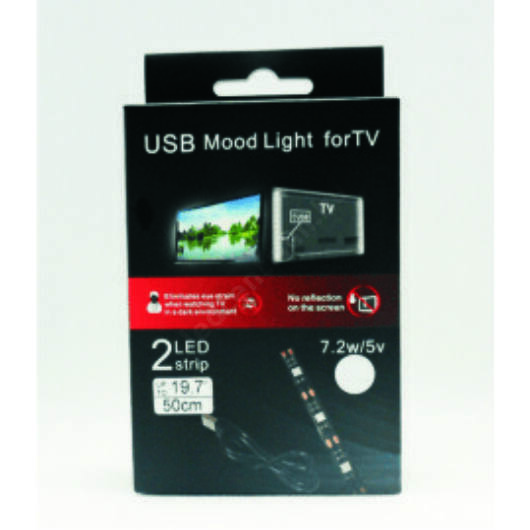 LED TV világítás 2 x 50cm meleg fehér