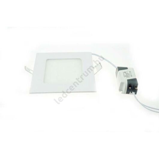 LED panel beépíthető, négyzet, 6W, hideg fehér